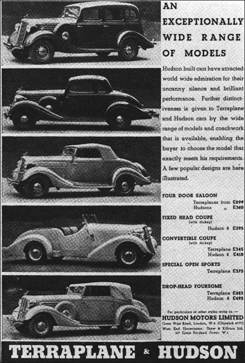 1935 Hudson british ad