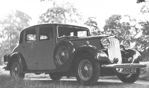1935 humber snipe 80 sports saloon