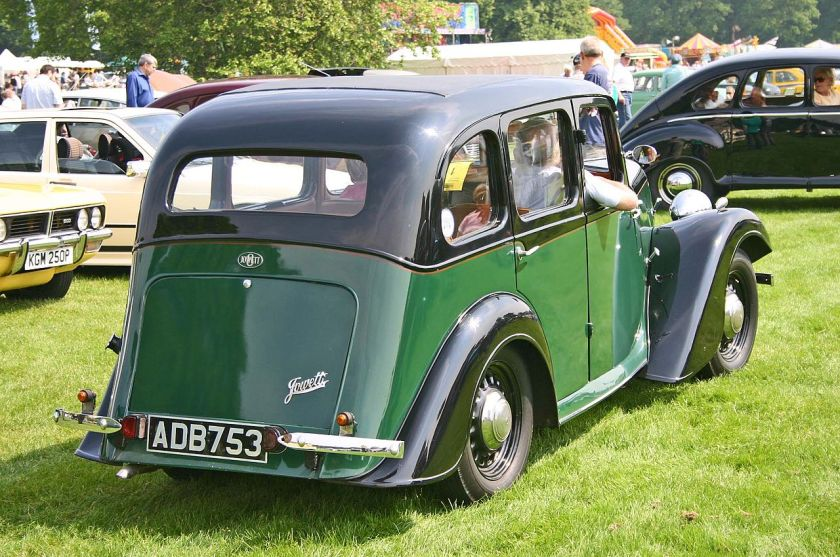 1935 Jowett Eight rear