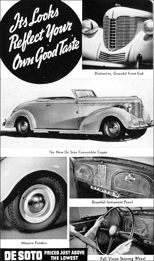 1938 De Soto Convertible Coupe