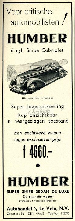 1939 humber le-velo
