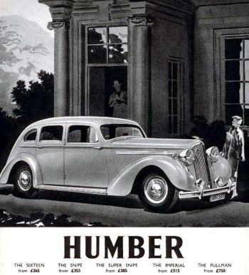 1939 humber super snipe