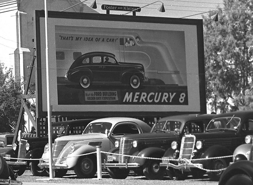 1939 Mercury Eight billboard Phoenix Cardealer