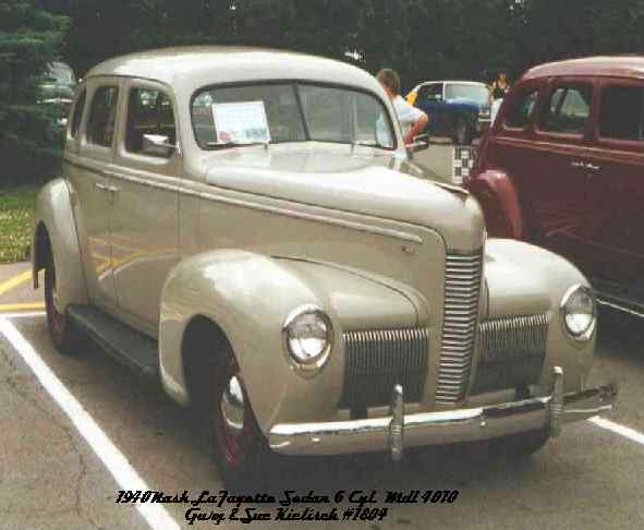 1940 Nash LaFayette Deluxe, 6 cylinder