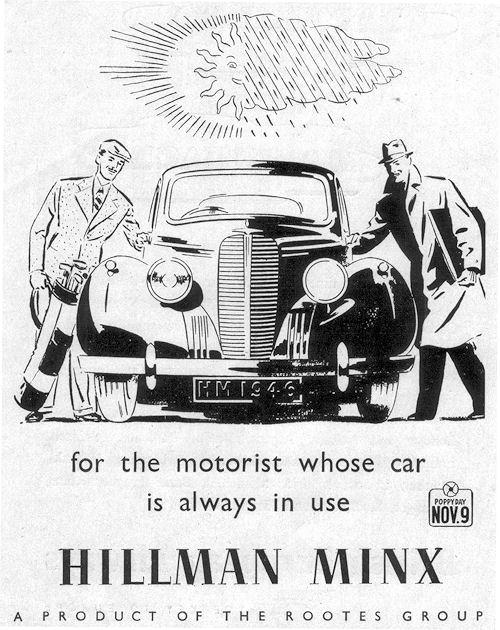 1946 hillman minx november