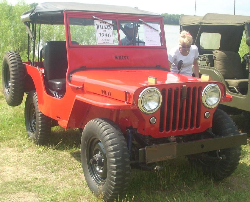 1946 Willys Jeep CJ-2A, the first vehicle produced by the company in 1946, when it was known as Willys Mexicana