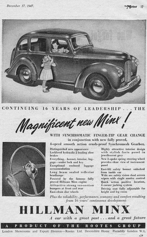 1947 hillman minx december