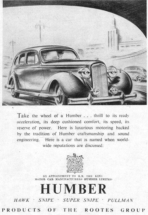 1947 humber july ad