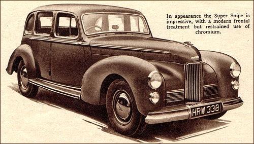 1948 humber super snipe mk2