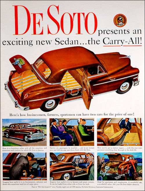 Promotional Advertising Poster 1958 DeSoto Firedome 4 Door Sportsman