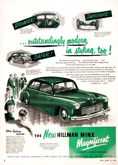 1949 hillman minx ad