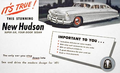 1949 hudson super six sedan