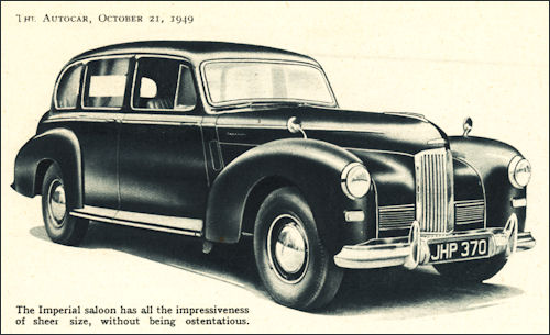 1949 humber imperial saloon