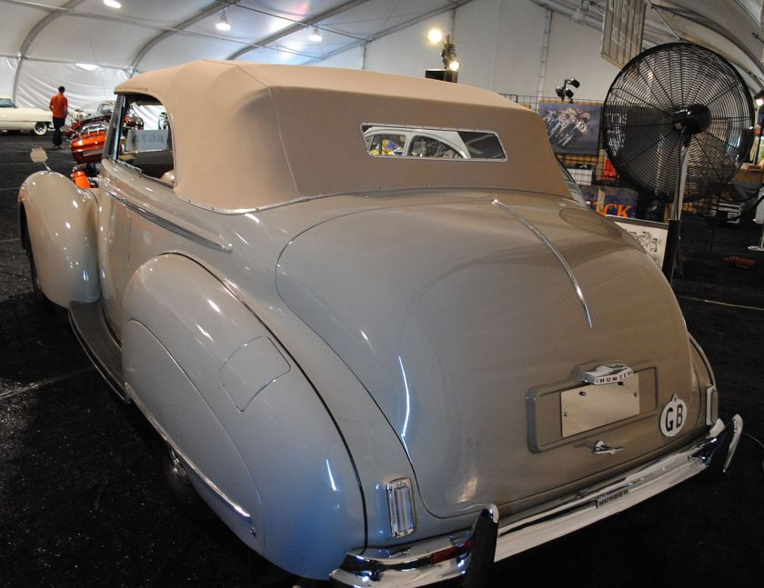 1949 Humber Super Snipe Tickford drophead coupé rear