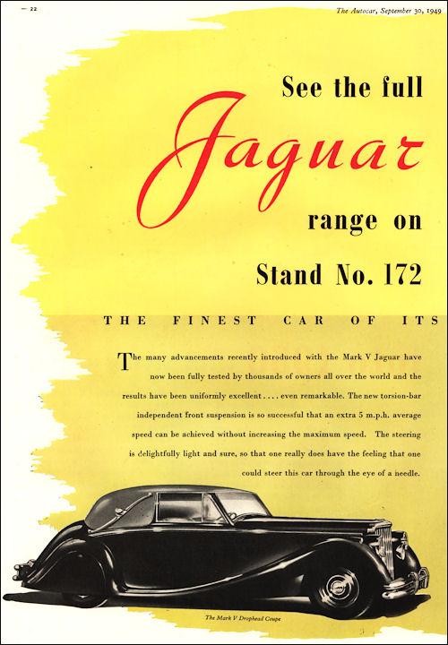 1949 jaguar mk V dhc