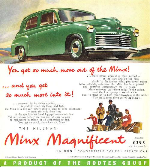 1950 hillman minx ph4