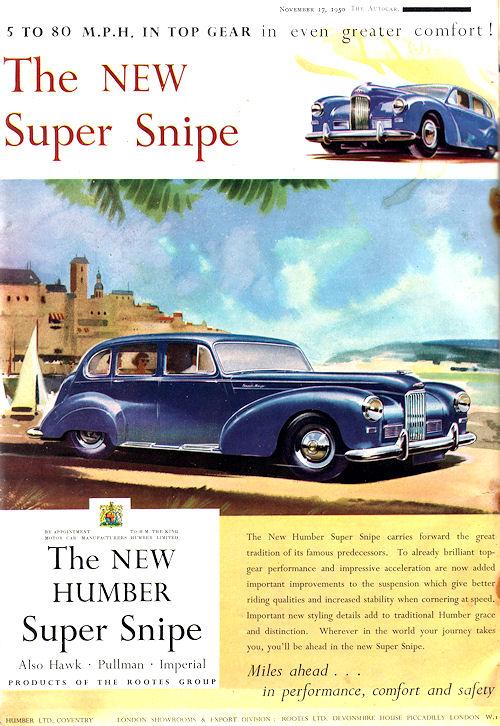 1950 humber Super Snipe Mk3