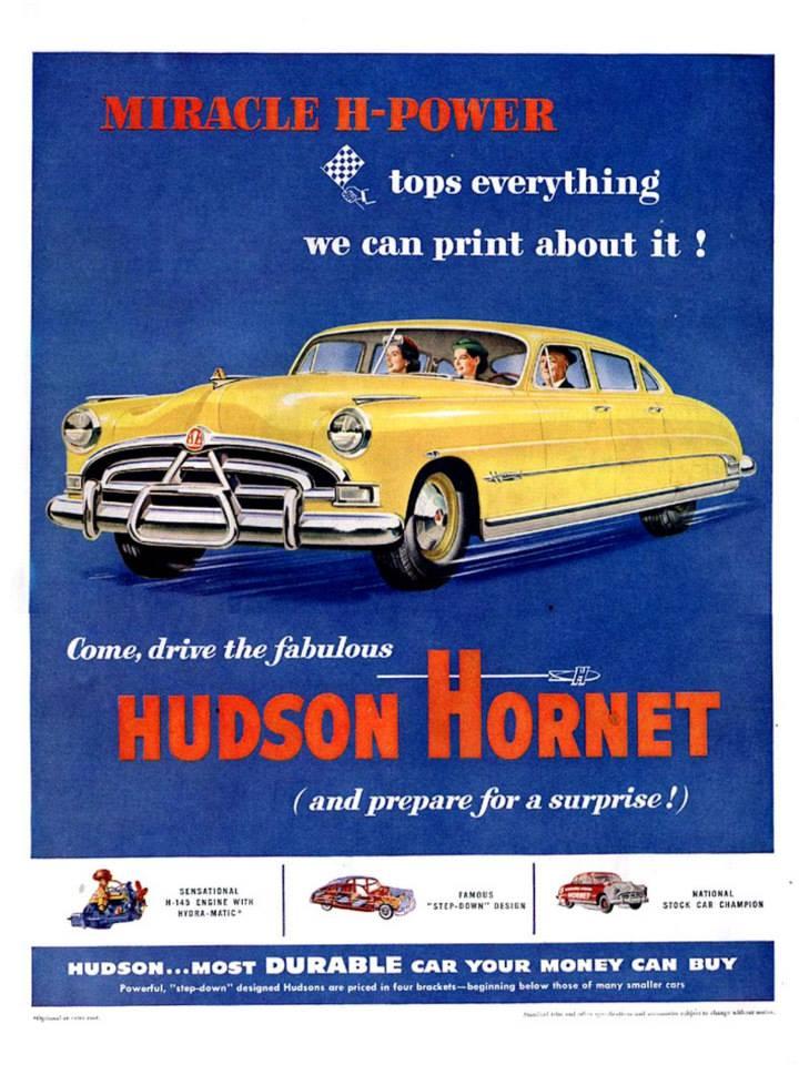 1951 Hudson Hornet ad
