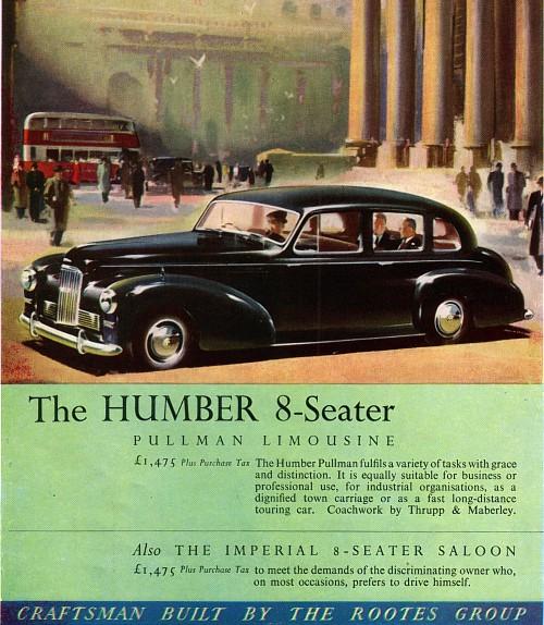 1951 humber pullman ad