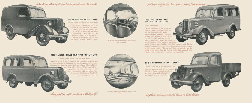 1951 Jowett Bradfords brochure