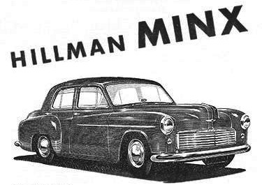 1952 hillman minx ad