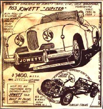 1952 Jowett Jupiter ad