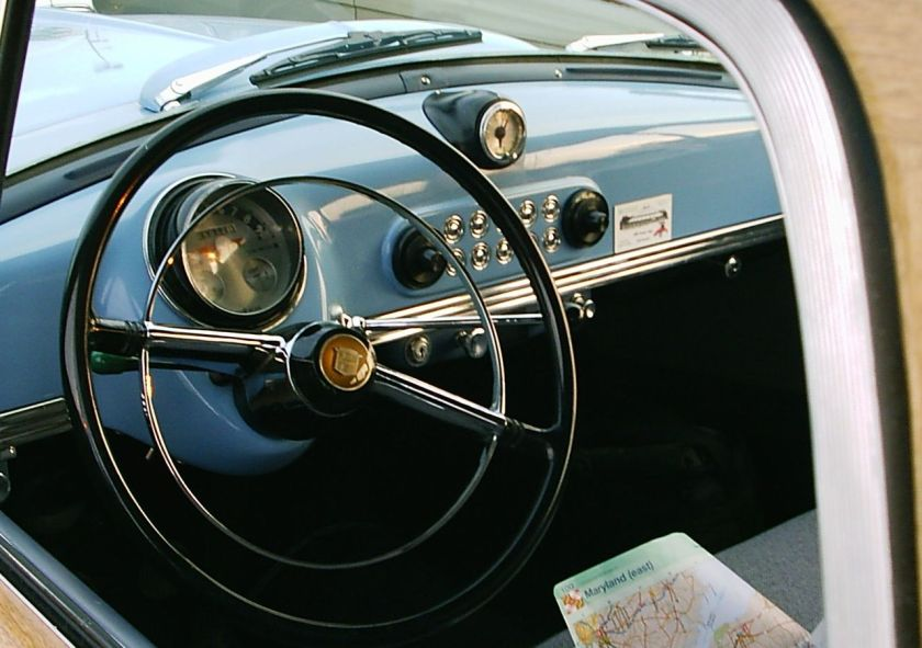 1952 Nash Rambler blue wagon interior