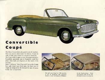 1953 Hillman Minx Convertible Coupé ad