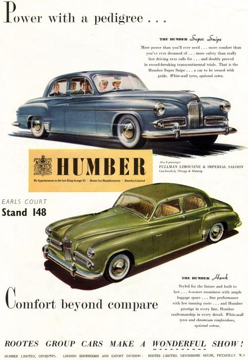 1953 humber motor oct 21