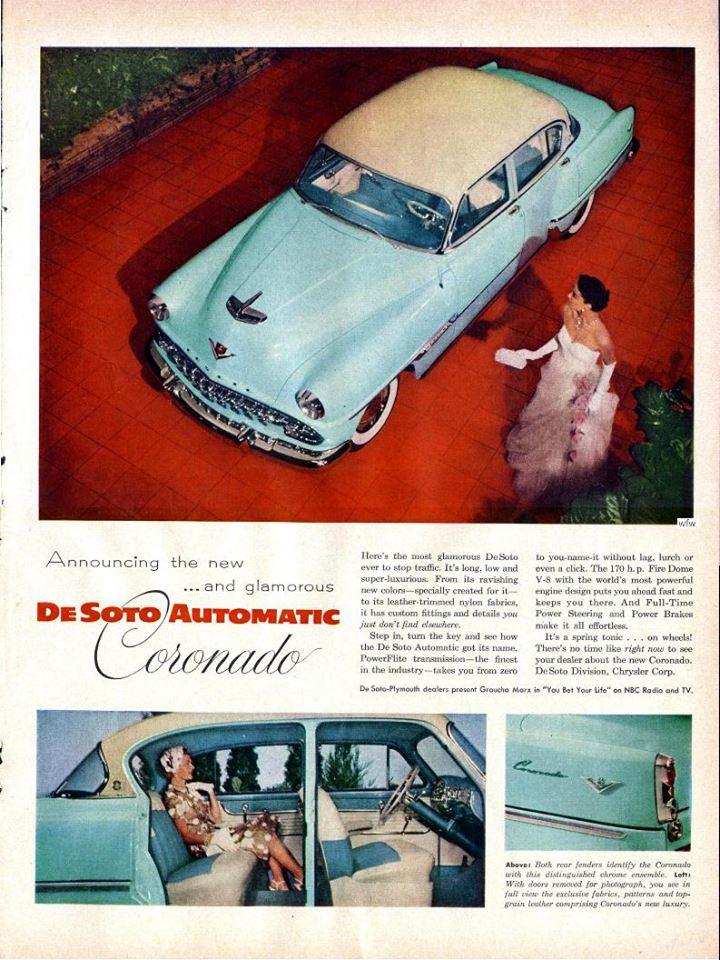 1954 De Soto Coronado Automatic Ad