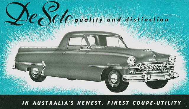 1954 De Soto Coupe Utility Australia