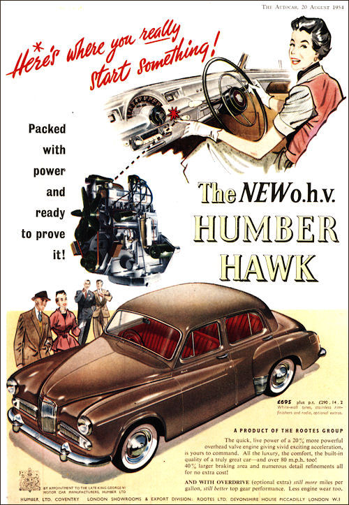1954 humber hawk june ad