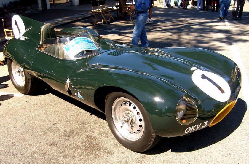 1954 Jaguar XKD 403 winner Reims 12 Hours