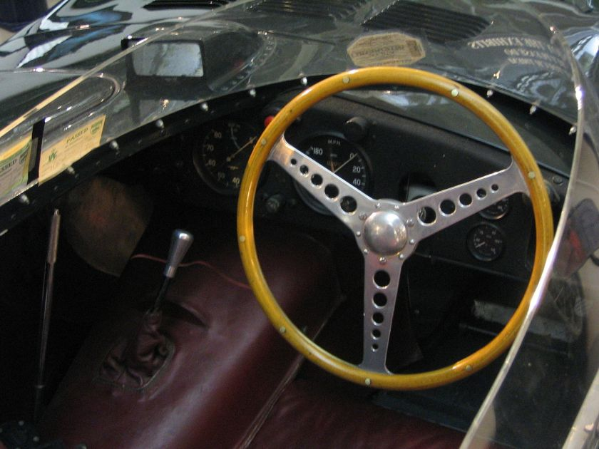 1955 Jaguar XKD-type interior