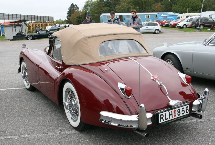 1955 LA2 Jaguar XK 140 DHC rear