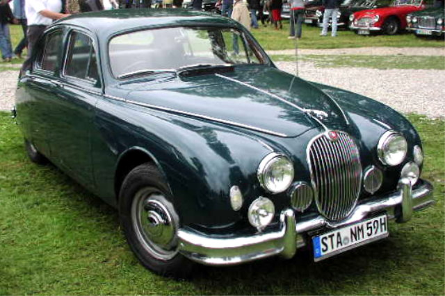 1955 MHV Jaguar 2.4 Litre with new grille