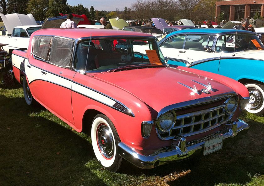 1956 Hudson Rambler Custom sedan, with dealer accessory window insect screens