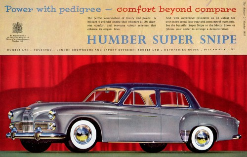 1956 humber super snipe mk IV