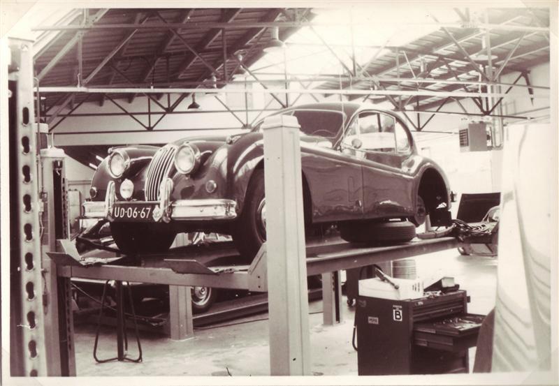1956 Jaguar XK 140 FHC tienertoer Amersfoort 1976