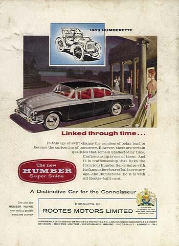 1957-62 Humber Super Snipe Series I-III