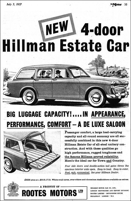 1957 hillman minx estate s1