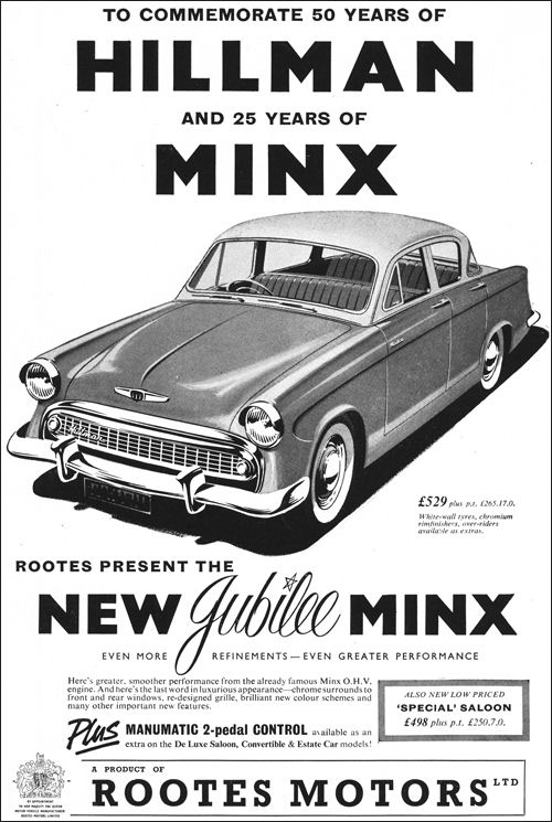 1957 hillman minx sII jubilee