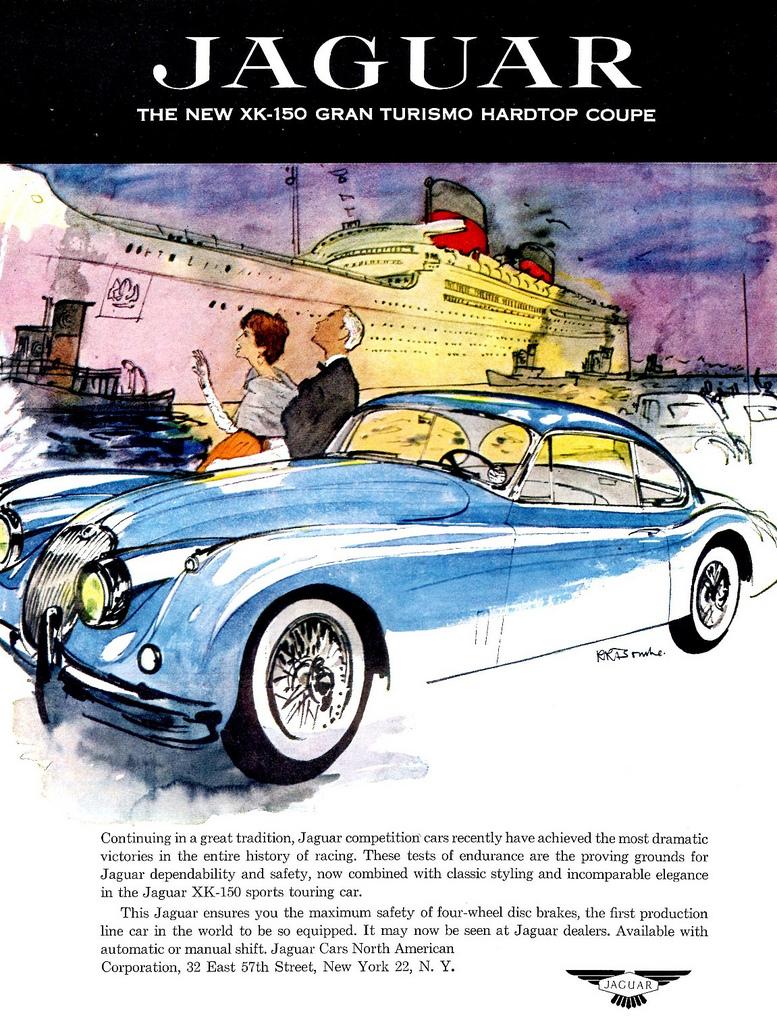 1957 Jaguar XK-150 Gran Turismo Hardtop Coupe