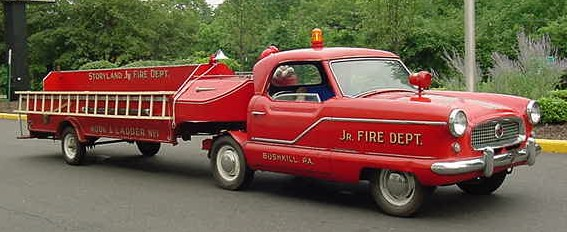 1957 Metropolitan converted into an amusement ladder fire truck