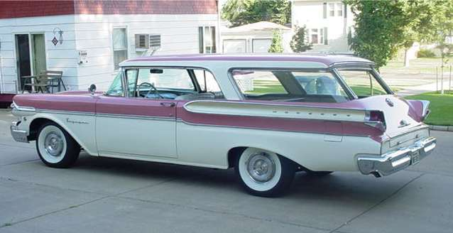 1957 Two Door Mercury Hardtop Station Wagon.