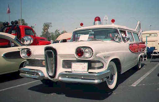 1958 Edsel Amblewagon ambulance station wagon