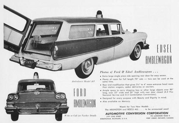 1958 Edsel ambu ad