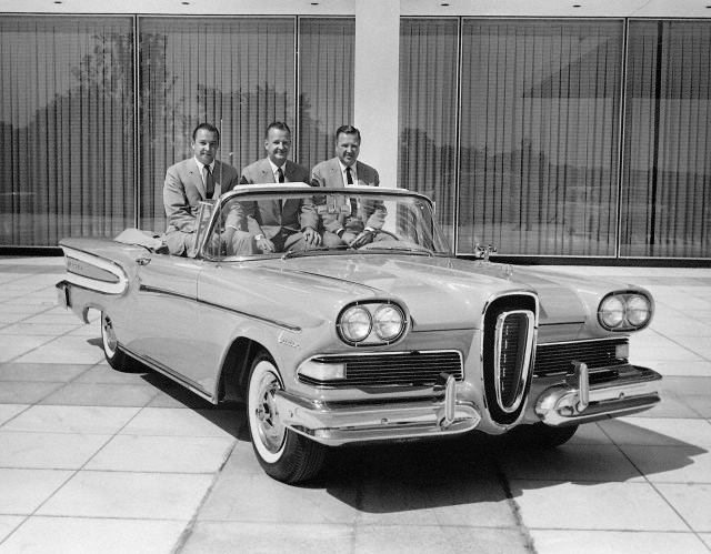 1958 Edsel. William Clay Ford, Benson Ford and Henry Ford II
