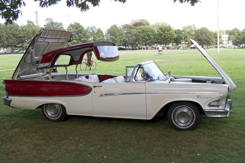 1958 Ford Fairlane Edsel Pacer rectractable (not real convertible, this is probably Ford Fairlane rectratable, with edsel front parts, and seats)