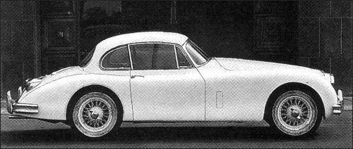 1958 jaguar xk fhc